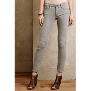 AG Stevie Slim Straight Ankle Zip Gray Jeans Sz 28